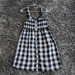 NWT Black and white gingham dress